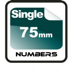 7.5cm (75mm) Race Numbers